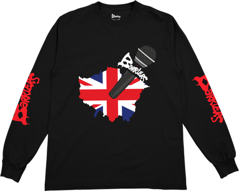 Barriers x AJT 'This Mic Saves Lives' L/S Tee (Black)