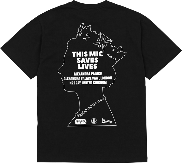 Barriers x AJT 'This Mic Saves Lives' S/S Tee (Black)