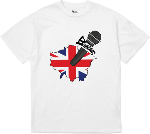 Barriers x AJT 'This Mic Saves Lives' S/S Tee (White)
