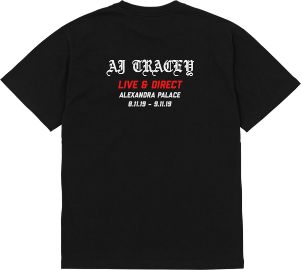 Places+Faces x AJT 'Live & Direct' S/S Tee (Black)
