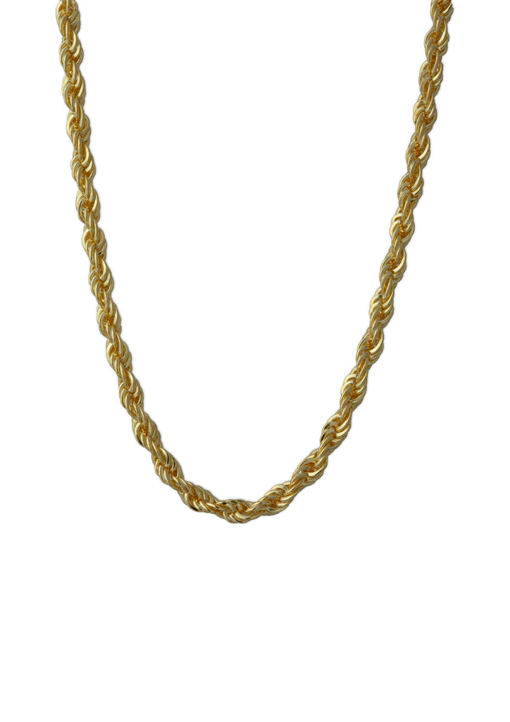 Chunky Rope Necklace Gold