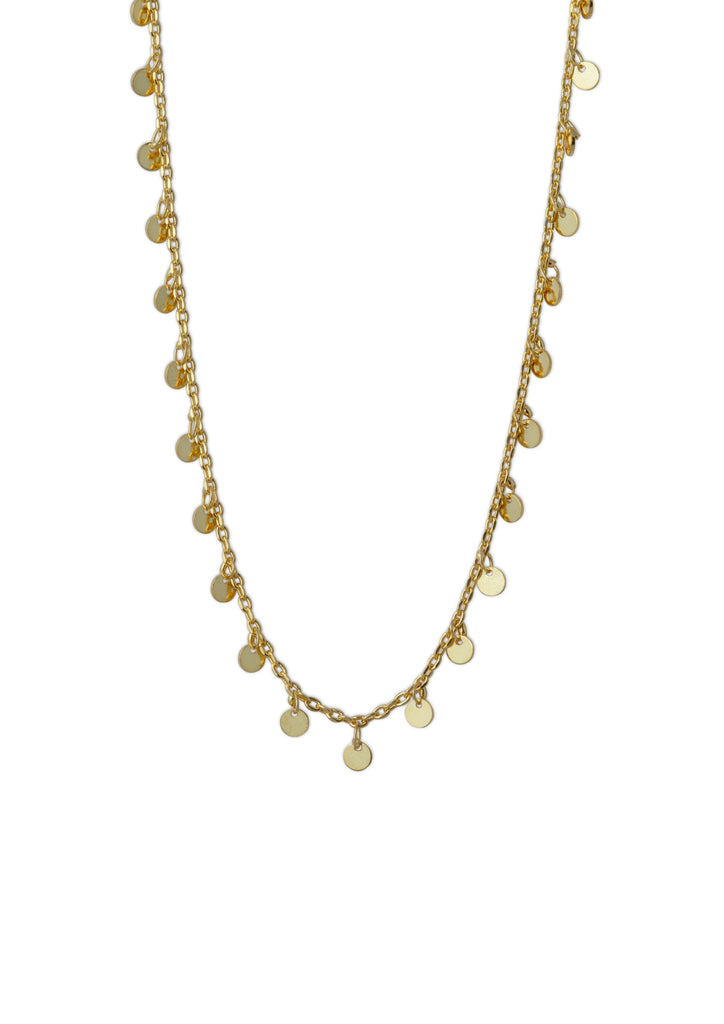 Coins Necklace Gold