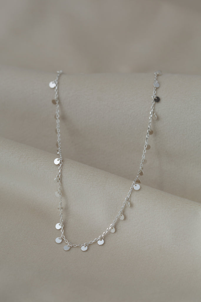 Coins Necklace Silver