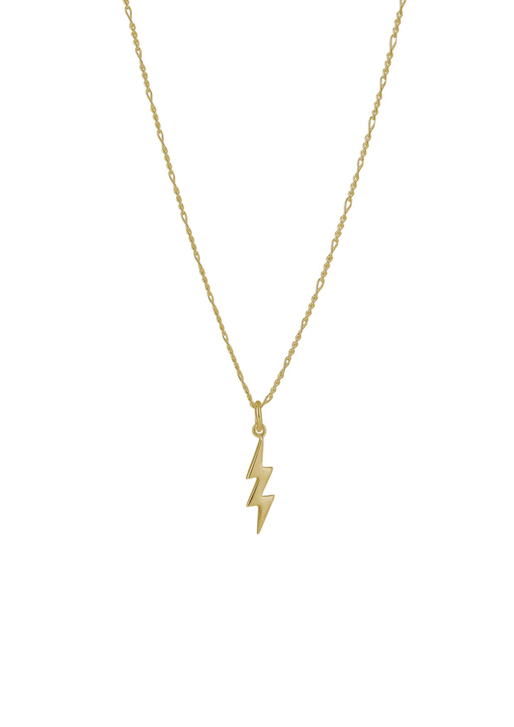 Lightning Necklace Gold
