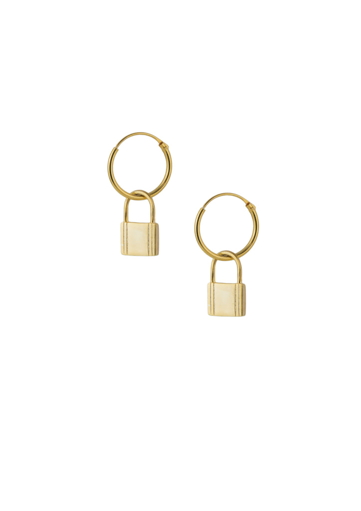 Lock Earring Gold