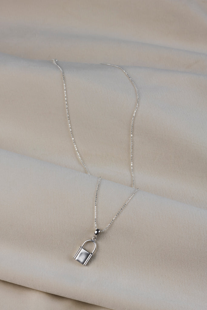 Lock Necklace Silver