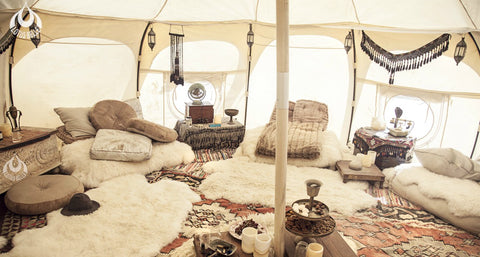 5 person glamping tent boho styling