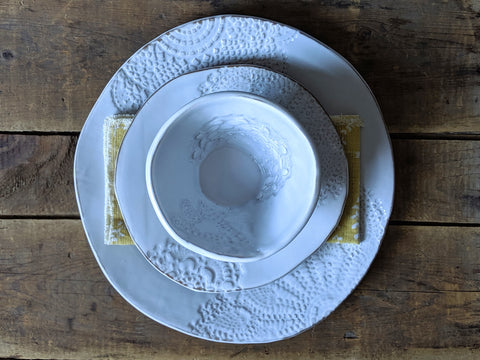 handbuilt 3 piece place setting