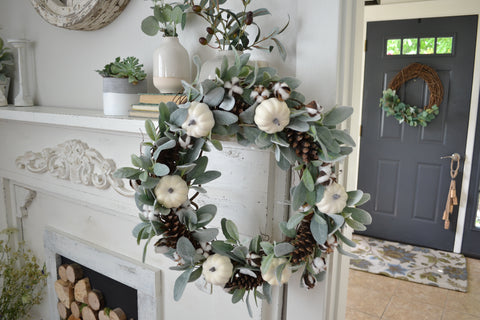 Fall Farmhouse Wreaths Are Here New Spaces Co