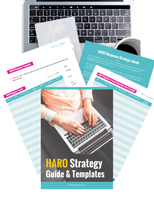 HARO Backlink Strategy Guide and Templates {10 Page Workbook}
