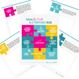 Solving The Puzzle to a Profitable Blog Workbook {Printable & Digital}