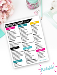 Whole Home Monthly Cleaning Zones Checklist {Digital Download}
