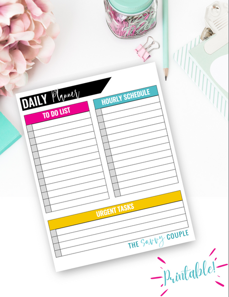 Simple Daily Planner {Digital Download}