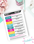 Weekly Marriage Meeting {Digital Download}