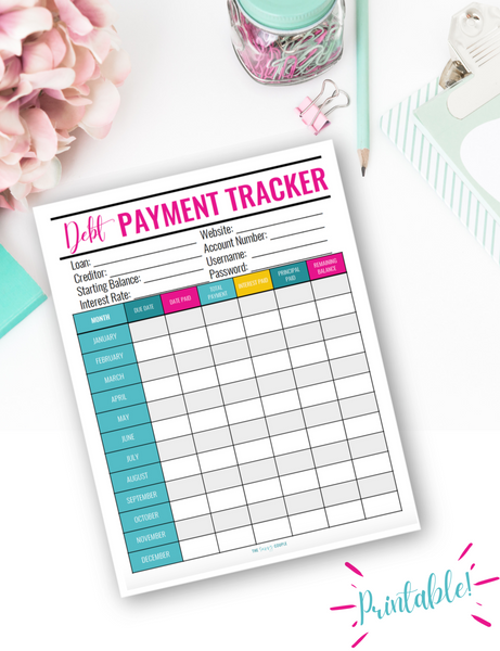 Debt Payoff Tracker {Digital Download}