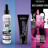Redken One United multi-benefit spray, Velvet Gelatine 07, Pillow Proof Express Primers