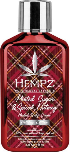 Shopmbsalon.com hempz holiday Spiced Nutmeg And Minted Sugar body lotion stocking stuffer