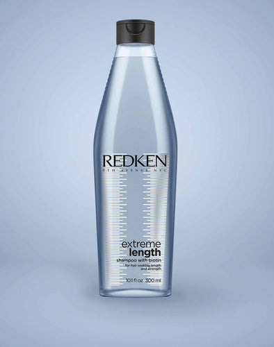 Redken Extreme Length Shampoo with Biotin to grow stronger healthier hair faster MB Salon ShopMBSalon.com