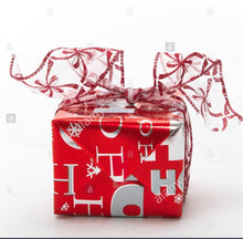 Load image into Gallery viewer, Red and Silver Themed Gift Wrapping