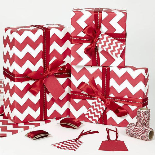 Red and White Themed Gift Wrapping