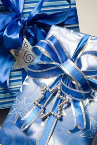 Blue and Silver Themed Gift Wrapping