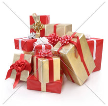Load image into Gallery viewer, Red and Gold Themed Gift Wrapping