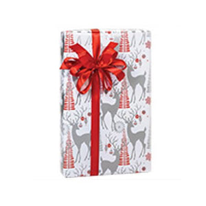 Red and Silver Themed Gift Wrapping