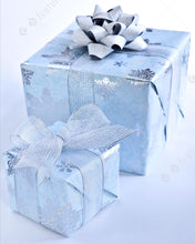 Load image into Gallery viewer, Blue and Silver Themed Gift Wrapping