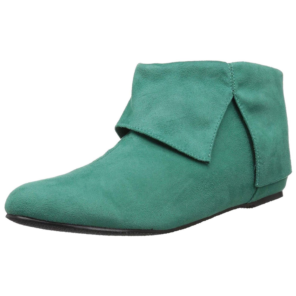 Green Microfiber Mens Ankle Boots Elf Santas Helper Christmas Costume Shoes