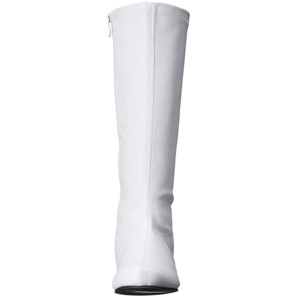 White Knee High Boots Cosplay Avenger Superhero Halloween Womens Costume Shoes
