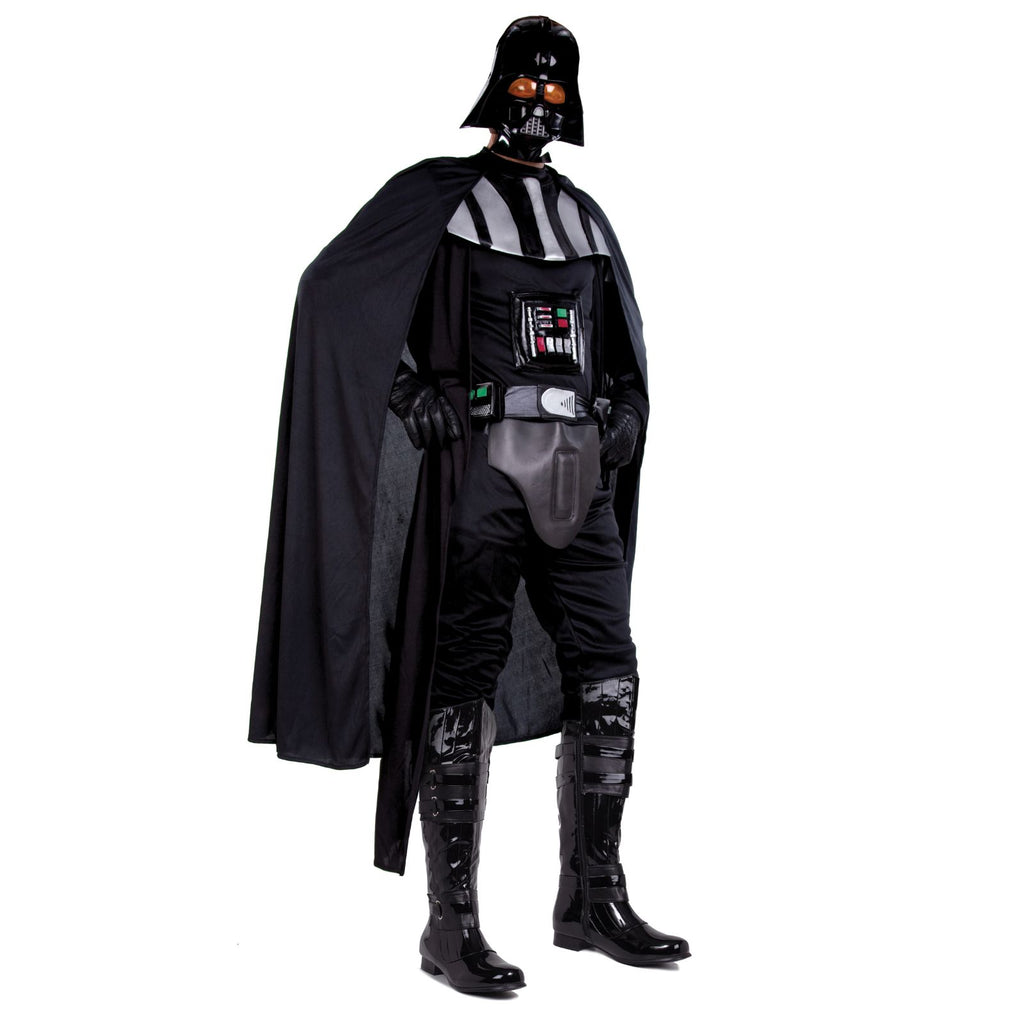 Black Mens Over Knee High Boots Star Wars Darth Vader Space Ball Cosplay Costume