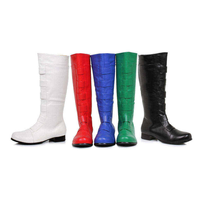Green Mens Knee High Boots Halloween Super Hero Cosplay Costume Full Back Zip