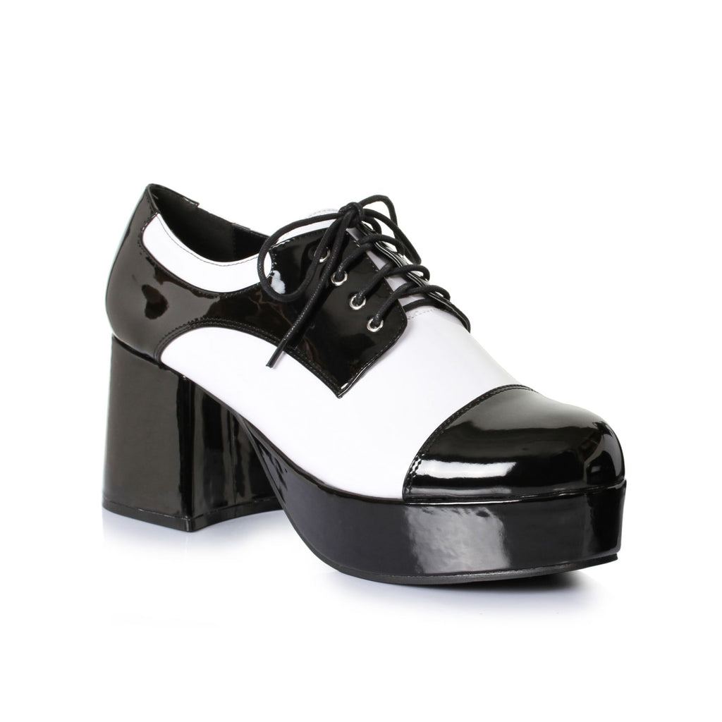 Black White Mens Platform Shoes Freddy Daddy Disco Dancer Halloween Costume