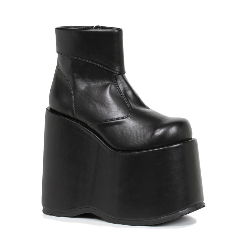 Black Matte Ankle Boots Platform Mens Frankenstein Monster Halloween Costume
