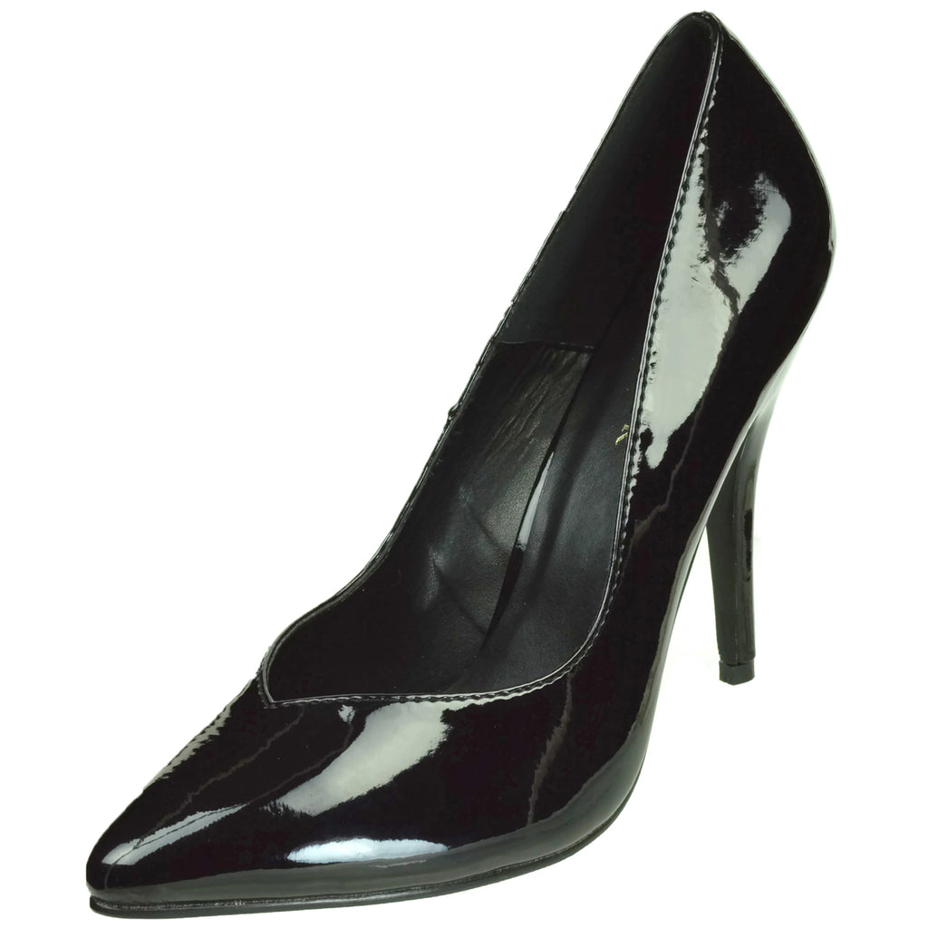 Black High Heel Stiletto Pump Classic Womens Pointed Toe Pleaser Formal Dress