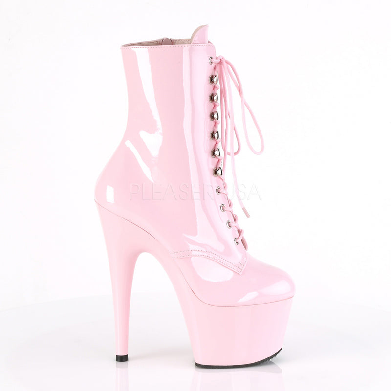 Baby Pink Patent Womens Ankle Boot Exotic Dancing High Heel Stiletto Platform