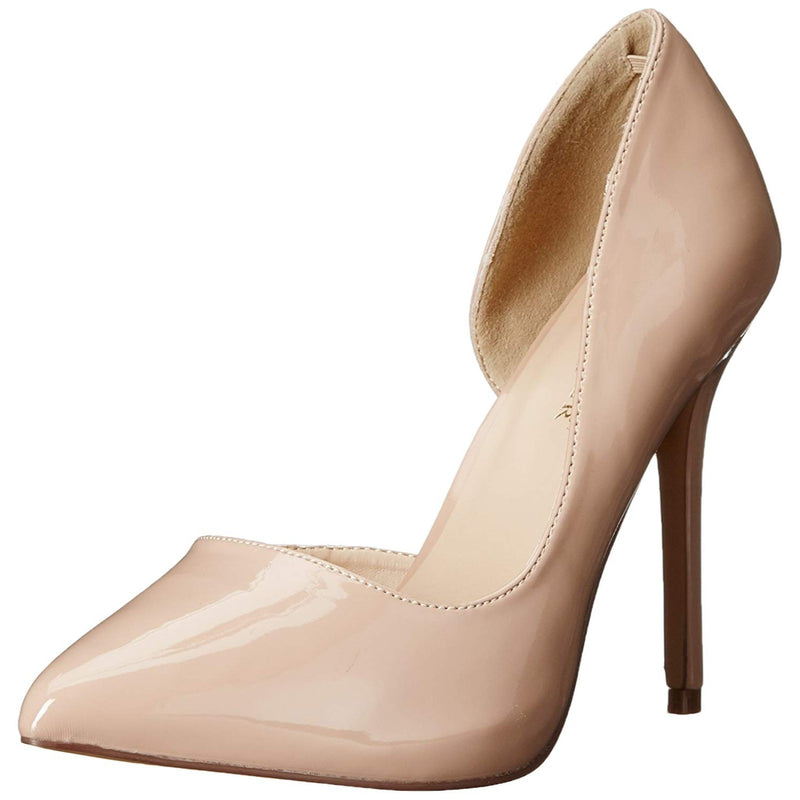 Nude High Heel Dorsay Stiletto Pump Cutout Instep Pleaser Womens Formal Shoes