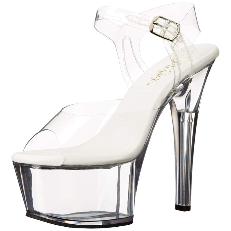 Clear High Heel Stiletto Ankle Strap Women Platform Sandal Pleaser Exotic Dancer