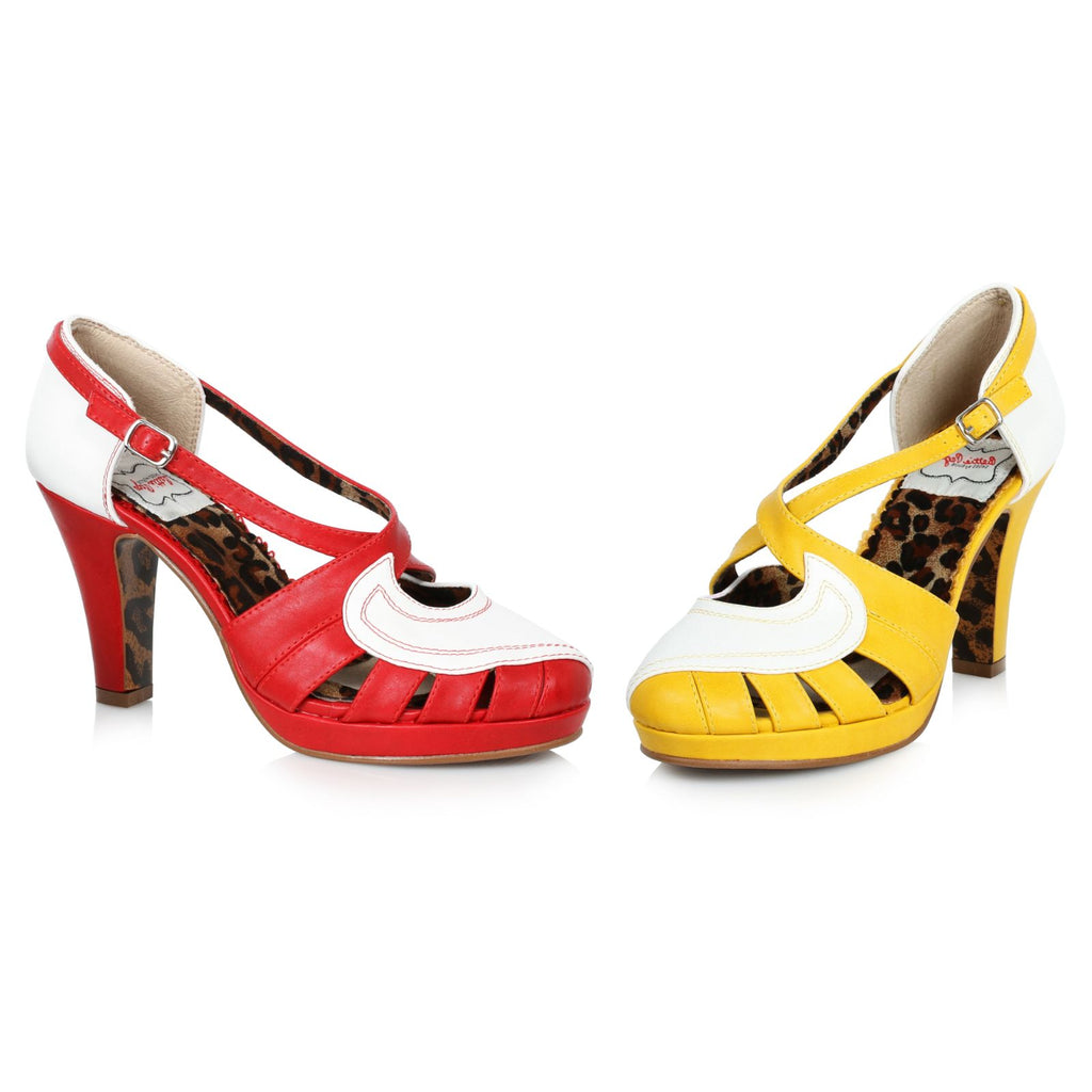 Red Strappy Slingback Sandals Platform Womens Vintage Retro High Heel Shoes