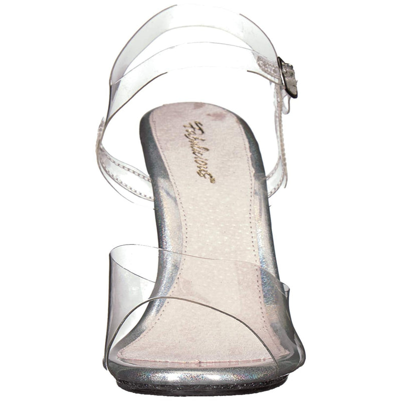 Clear Glitter Dressy Fitness Competition Beauty Pageant Ankle Strap Sandal Shoes