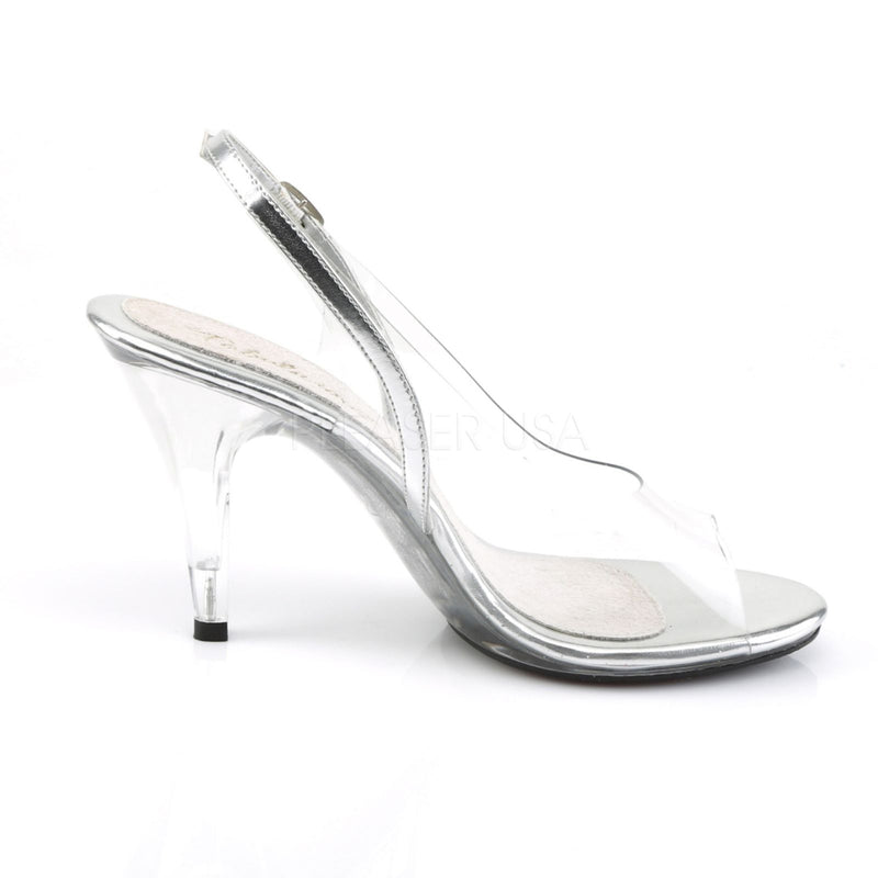 Clear Slingback Sandal Shoes Womens Prom Bridal Pageant Competition High Heels