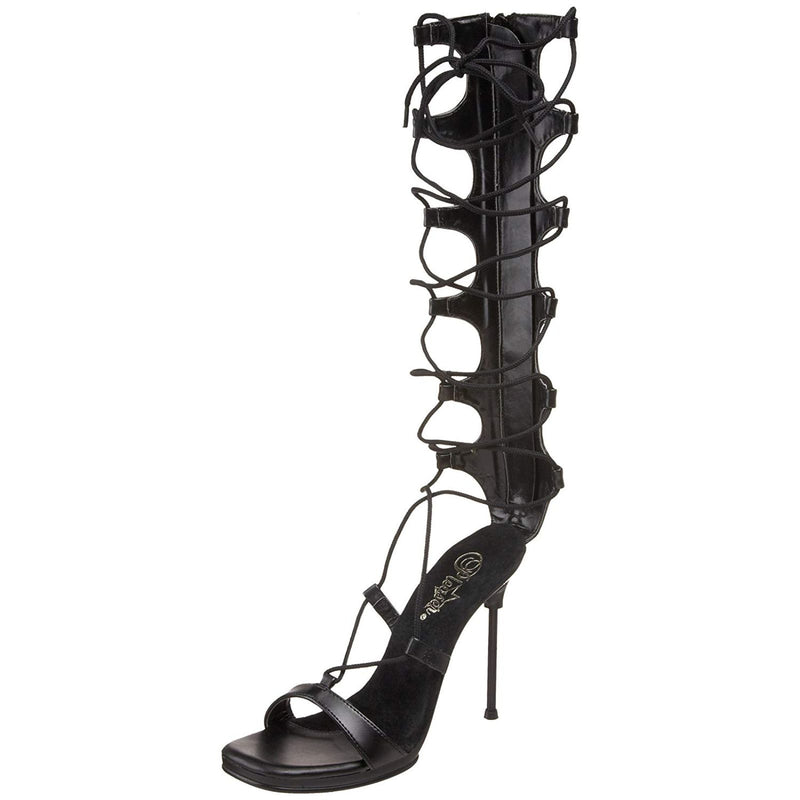 Black Matte Lace Up Party Prom Bridal Gladiator Sandal Shoes Womens High Heel