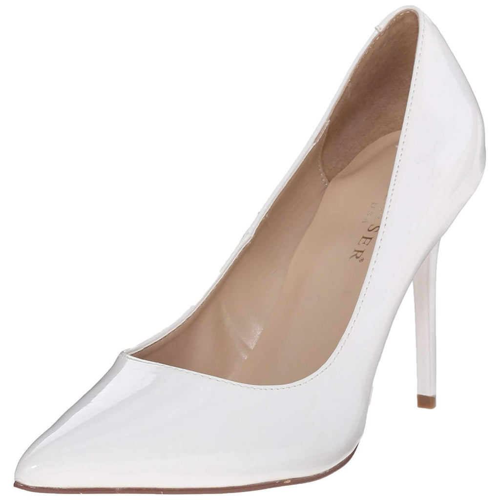 White Patent Classic Pumps Single Soles Dressy Formal Office High Heels Shoes