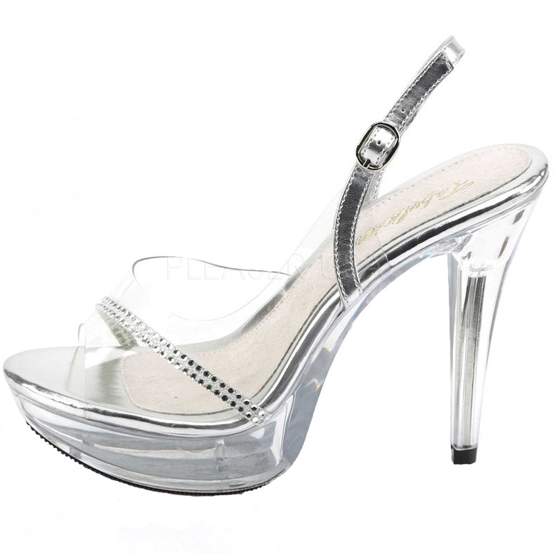 Clear Cocktail Evening Prom Wedding Platform Slingback Sandal Soes High Heels