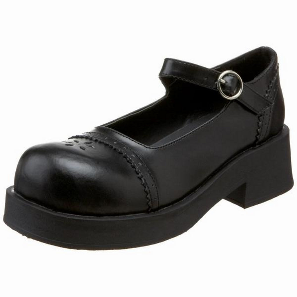 Black Matte Womens Mary Jane Shoes Platform Goth Punk Gothic Lolita Alternative