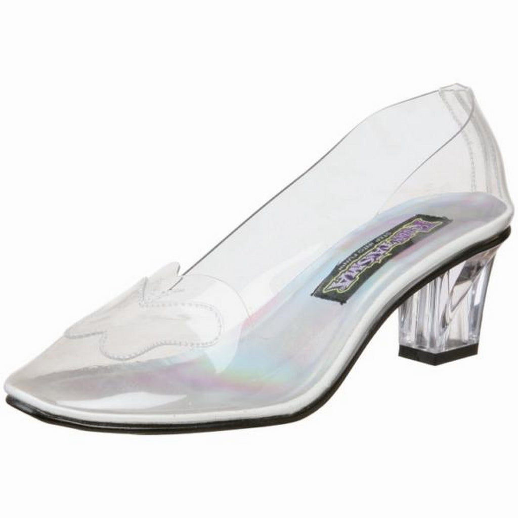 Clear Womens Cute Low Heel Cinderella Princess Costume Pumps Shoes CRY103/C