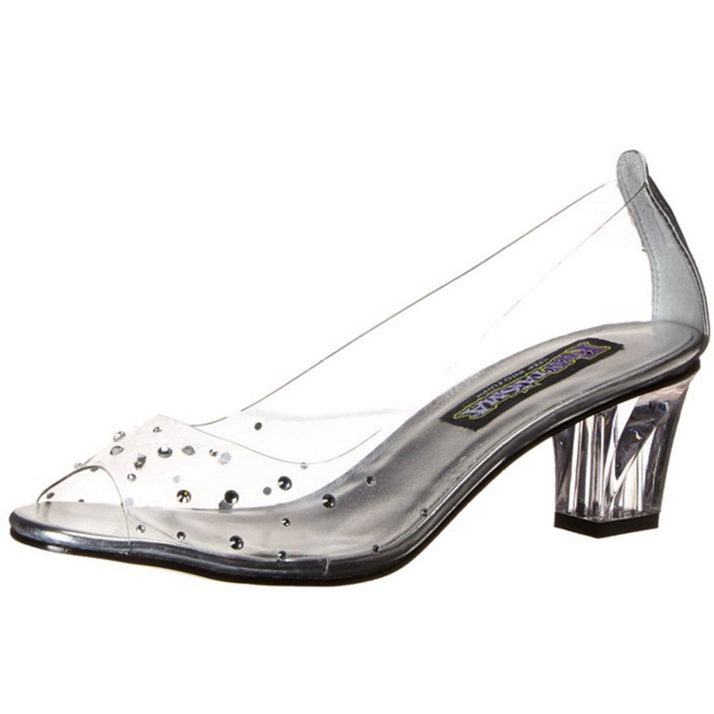 Clear Lucite Peep Toe Pumps Shoes Cinderella Princess Costume Kitten Heels