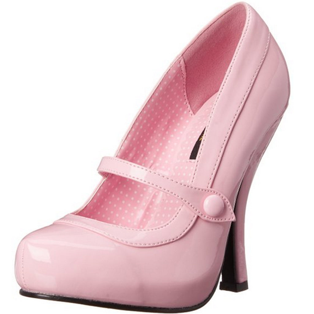 Pink Patent Mary Jane Pumps Platform Vintage Retro Rockabilly High Heels Shoes