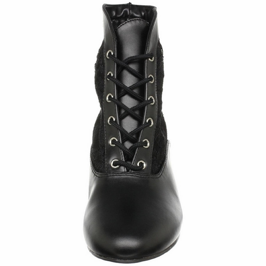 Black Lace Costume Cosplay Halloween Ankle High Boot FUNTASMA Dame-05 Series