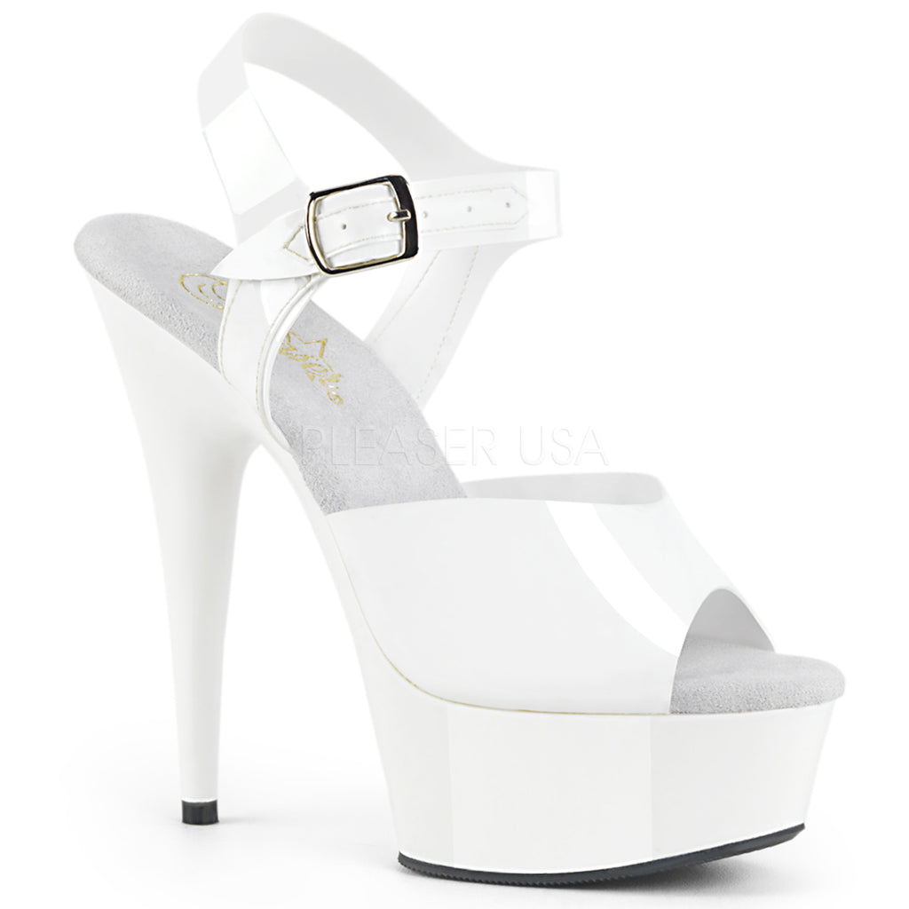 White Jelly Like TPU Ankle Strap Sandal Platform Exotic Dancing High Heels Shoes